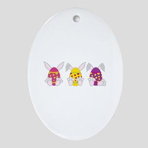 Hoppy Easter Ornament (Oval)