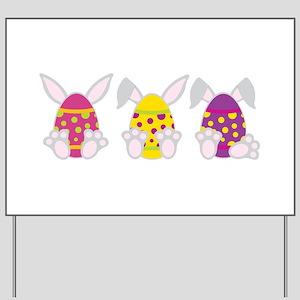 Hoppy Easter Yard Sign