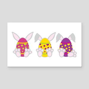 Hoppy Easter Rectangle Car Magnet