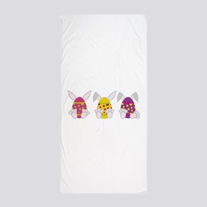 Hoppy Easter Beach Towel