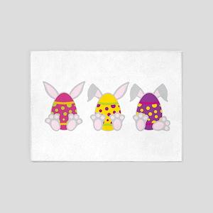 Hoppy Easter 5'x7'Area Rug