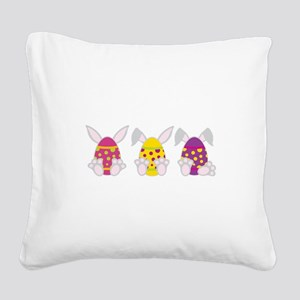 Hoppy Easter Square Canvas Pillow