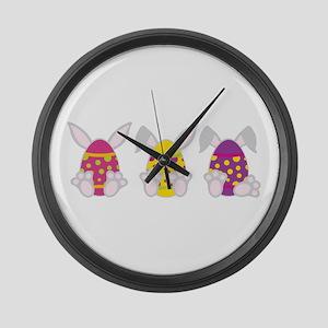 Hoppy Easter Large Wall Clock