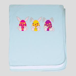 Hoppy Easter baby blanket