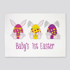 Baby's 1st easter 5'x7'Area Rug