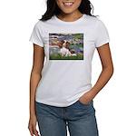 Lilies2 & Cavalier Women's T-Shirt