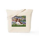 Lilies2 & Cavalier Tote Bag