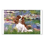 Lilies2 & Cavalier Sticker (Rectangle)