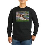 Lilies2 & Cavalier Long Sleeve Dark T-Shirt