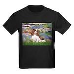 Lilies2 & Cavalier Kids Dark T-Shirt