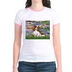 Lilies2 & Cavalier Jr. Ringer T-Shirt