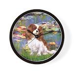 Lilies2 & Cavalier Wall Clock