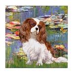 Lilies2 & Cavalier Tile Coaster