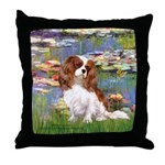 Lilies2 & Cavalier Throw Pillow
