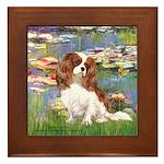Lilies2 & Cavalier Framed Tile