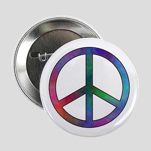Multicolor Peace Sign Button