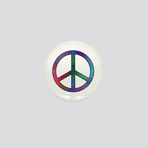 Multicolor Peace Sign Mini Button