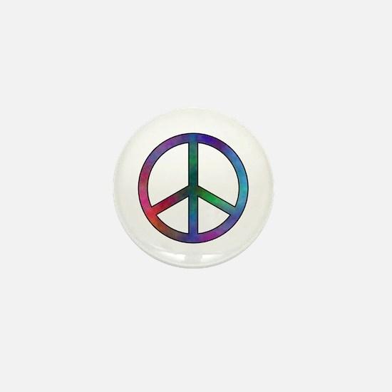 Multicolor Peace Sign Mini Button