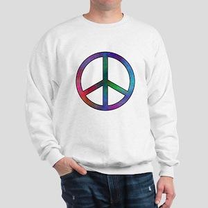 Multicolor Peace Sign Sweatshirt