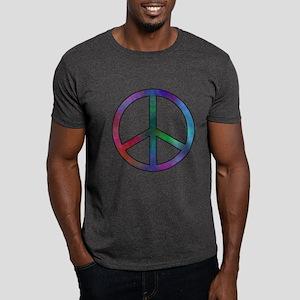 Multicolor Peace Sign Dark T-Shirt