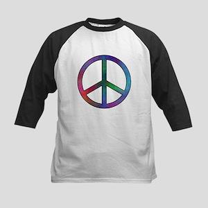 Multicolor Peace Sign Kids Baseball Jersey