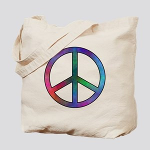 Multicolor Peace Sign Tote Bag