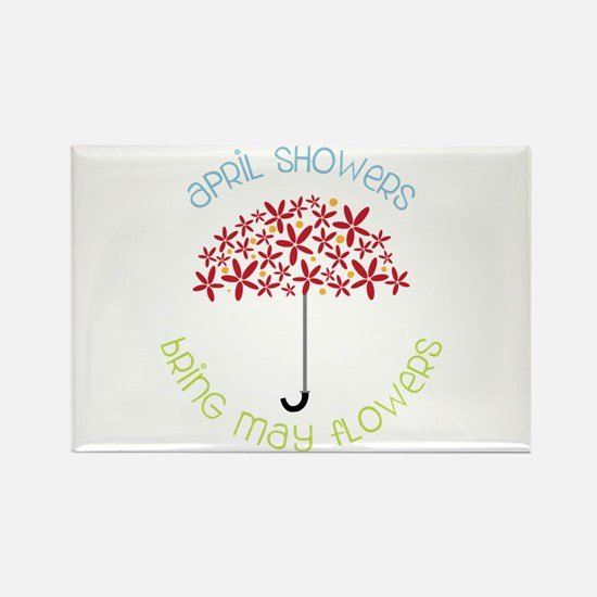 April Showers brings may flowers Magnets