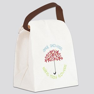 April Showers brings may flowers Canvas Lunch Bag