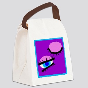 Abstract Eyes Canvas Lunch Bag