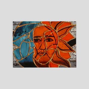 Hatha Sun/Moon Version 3 5'x7'Area Rug