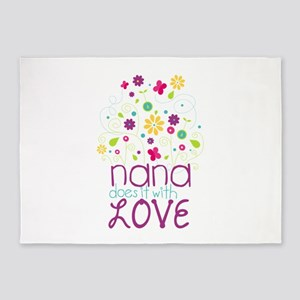 Nana Does It With Love 5'x7'Area Rug