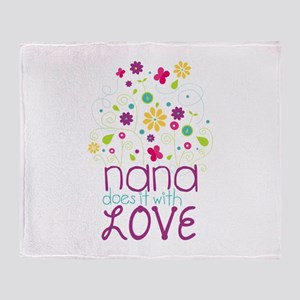 Nana Does It With Love Throw Blanket