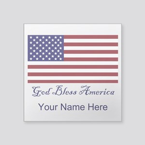 God Bless America Personalize Sticker
