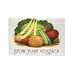 grow your veggies Rectangle Magnet