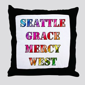 SEATTLE GRACE Throw Pillow