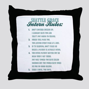 INTERN RULES Throw Pillow