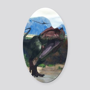 Giganotosaurus Oval Car Magnet