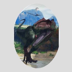 Giganotosaurus Ornament (Oval)