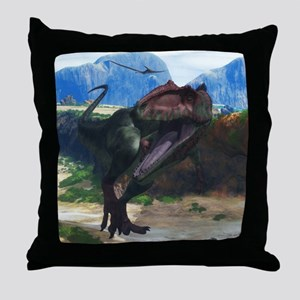 Giganotosaurus Throw Pillow