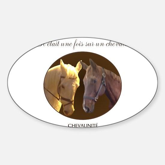 Horse Design by Chevalinite Sticker (Oval)