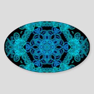 Burst Of Blue Mandala Sticker
