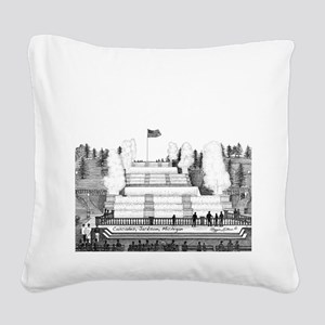 Cascades Jackson Michigan Square Canvas Pillow