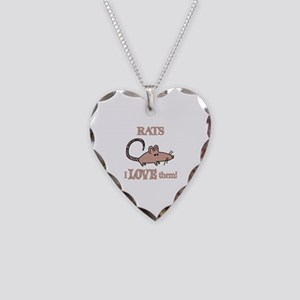 Rats Love Them Necklace Heart Charm