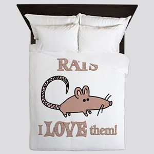 Rats Love Them Queen Duvet
