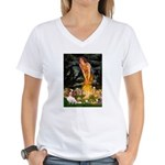 Fairies & Cavalier Women's V-Neck T-Shirt