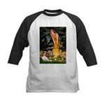 Fairies & Cavalier Kids Baseball Jersey