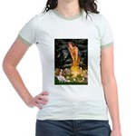 Fairies & Cavalier Jr. Ringer T-Shirt