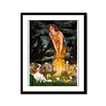 Fairies & Cavalier Framed Panel Print