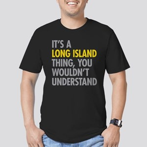 Long Island NY Thing Men's Fitted T-Shirt (dark)