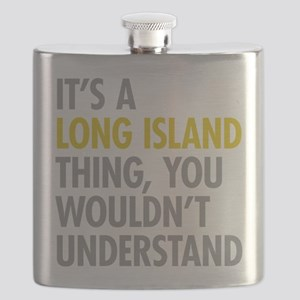 Long Island NY Thing Flask